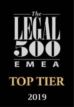 Legal 500 EMEA Top Tier 2019