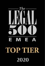 Legal 500 EMEA Top Tier 2020
