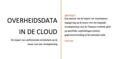 Studie AGIV Overheidsdata in de cloud | time.lex